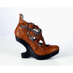 Spanish Alternative Heel Lees Shoe Silver Cuero by Octavio Vera