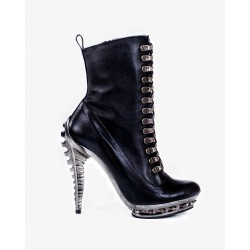 XXII Black Leather Heavy Metal Boots