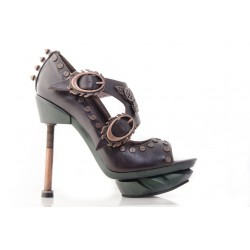 Sky Captain Brown Leather Steampunk Shoes