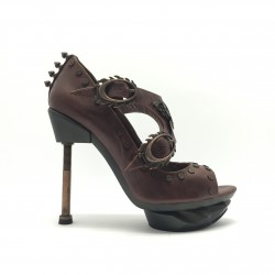 Sky Captain Burgundy Leather Steampunk Shoes