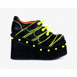 Poison Yellow Cyber Shoes