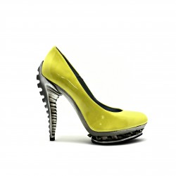 Spanish Alternative Heavy Metal Shoe Predator Yellow Pat by Octavio Vera