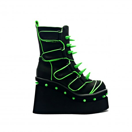 Spanish Alternative Cyber Boot Pulse Green by Octavio Vera