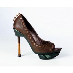 Spanish Alternative SteamPunk Shoe Iron Punk Brown Leather by Octavio Vera